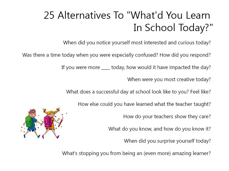50 Alternatives To What'd You Learn In School Today?