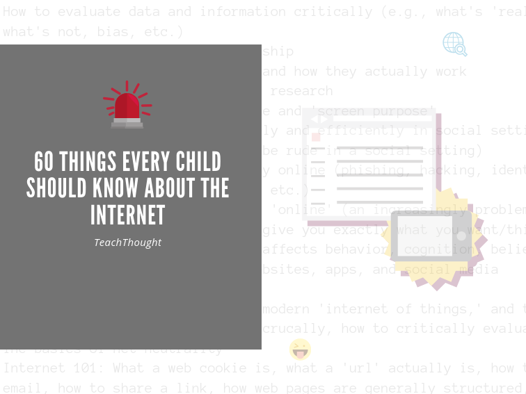 Critical Thinking Online: 60+ Things Every Child Should Know About The Internet