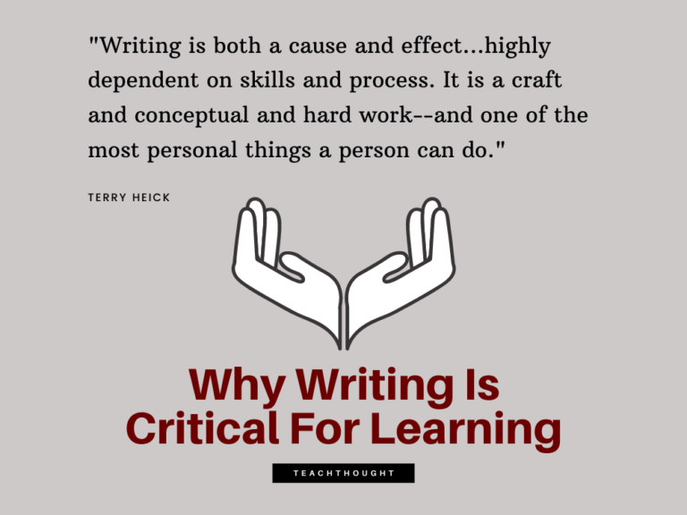 Why Writing Is Critical For Learning